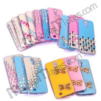 Fashionable 3D Glitter Powder Crystal Diamond Hard Cover Case for Samsung I9500 Galaxy S4, 2013 new products phone case