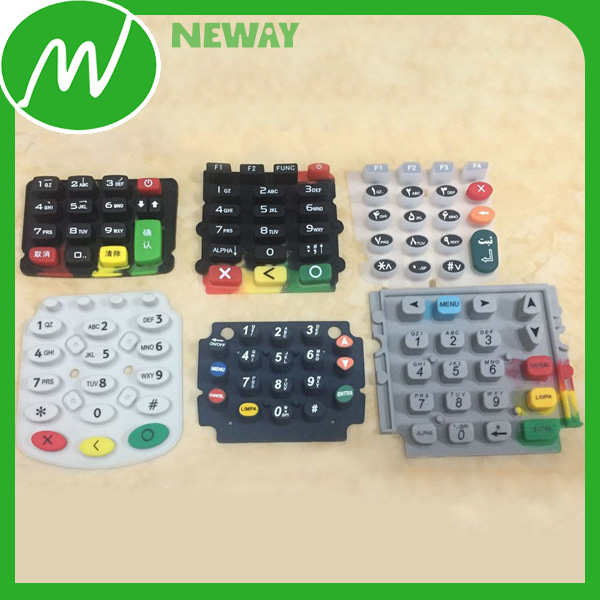 Conductive Ink Silicone Rubber Keypad For Remote Control