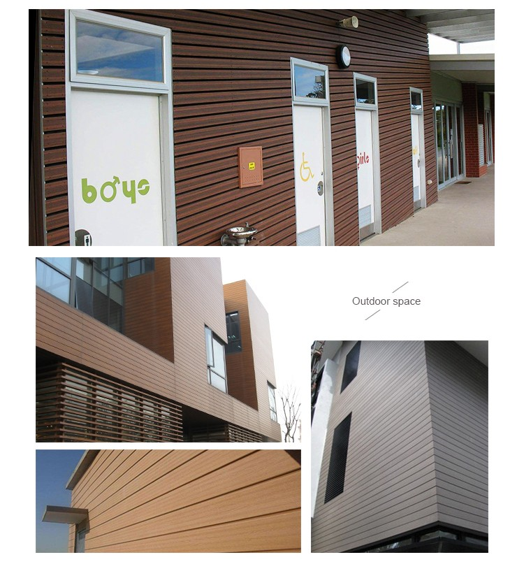 Factory wholesale exterior wpc wall cladding and wpc facade and WPC panel board