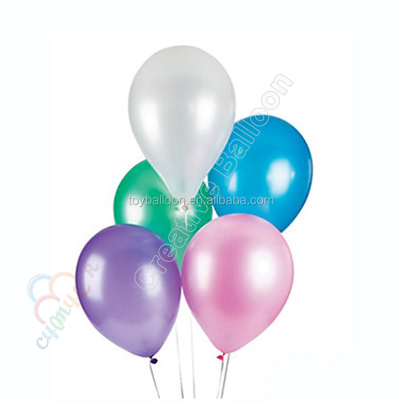 Latex free plain metallic pearl balloon for party decorations