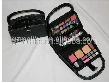 Professional handmade leather beauty box vanity case for cosmetics