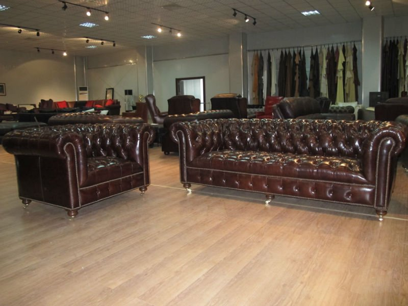 Chesterfield Leather Sofa 021 14