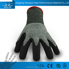 working safety glass handling industrial black rubber glove