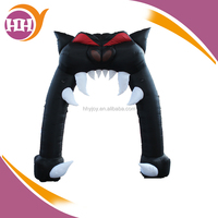 Scary Cat shaped balloon arch, halloween inflatable arch inflatable cat