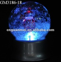 Handmade snow globe music box for christmas ornament