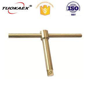 "TUOKAEX Safety Tools T-1/4 Bar, Sliding-T, Non-Sparking, Non-Magnetic, Corrosion Resistant, 1/4"" Drive, 4-1/2"""