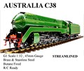 C38 1:32 live steam locomotive (Brass made)