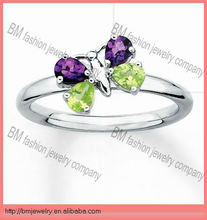 shiny crystal butterfly unique style new fashion 2013 wedding rings