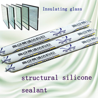 structural silicone sealant for double insulating glass and glass
