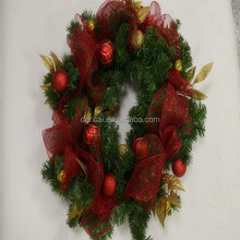 PVC Christmas Wreath Of Home& Party Supplies
