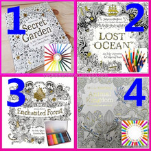2016 Factory Wholesale Adult Wholesale Coloring Books With 12 Colorful pencils, Popular Secret Garden Coloring Books For Adults