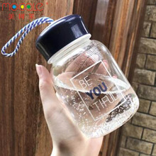 Wholesale Custom Logo Portable Mini Glass Water Bottle With Cap