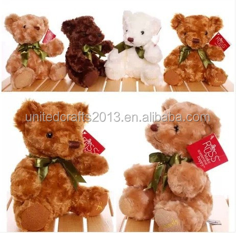 China plush toy animals, teddy bear with bow plush toy wholesale
