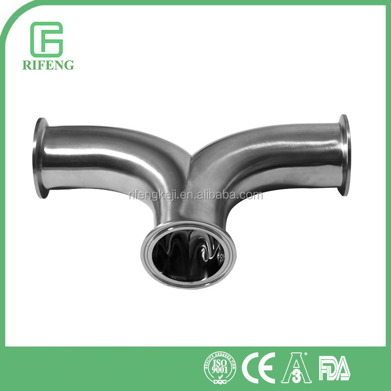 3A/DIN/ISO/SMS Stainless Steel Tri-Clamp Sanitary Equal Tee