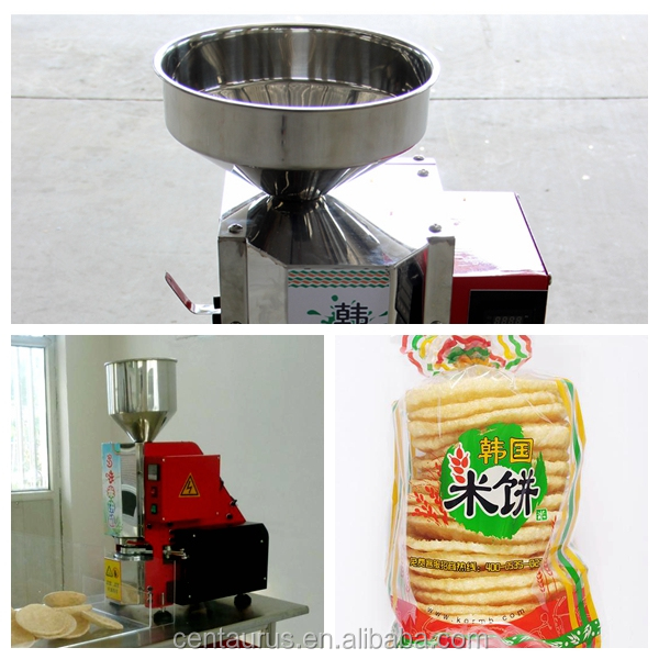 CE certification crispy snack food korea rice cake machine/popped rice cake machine with best price