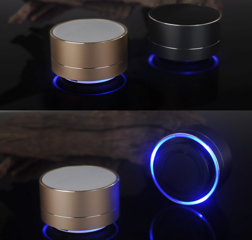 High Quality A10 Wireless Portable Mini Bluetooth Speaker LED Light with FM Radio for Mobile Phone Louderspeaker