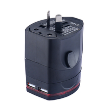 Famous swiss standard europe multifunction travel plug adapter with dual USB