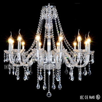 Home hall crystal pendant chandelier , modern big luxury crystal chandelier