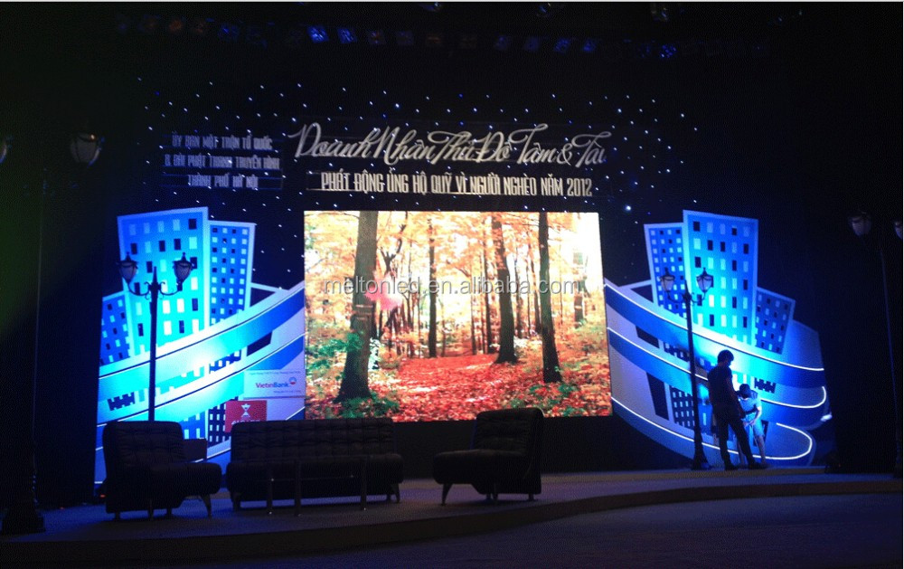Die Casting Aluminum Indoor Rental LED Display Screen P3P4P5P6 SMD super thin LED x video wall panel