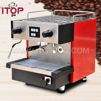 1 group cooks coffee espresso maker