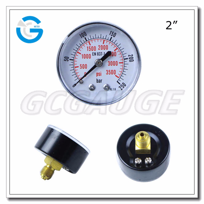 High quality steel case back connection wika pressure gauge 111.14