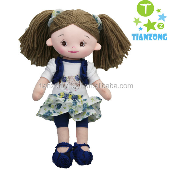 beautiful girl soft plush toys baby toy rag doll