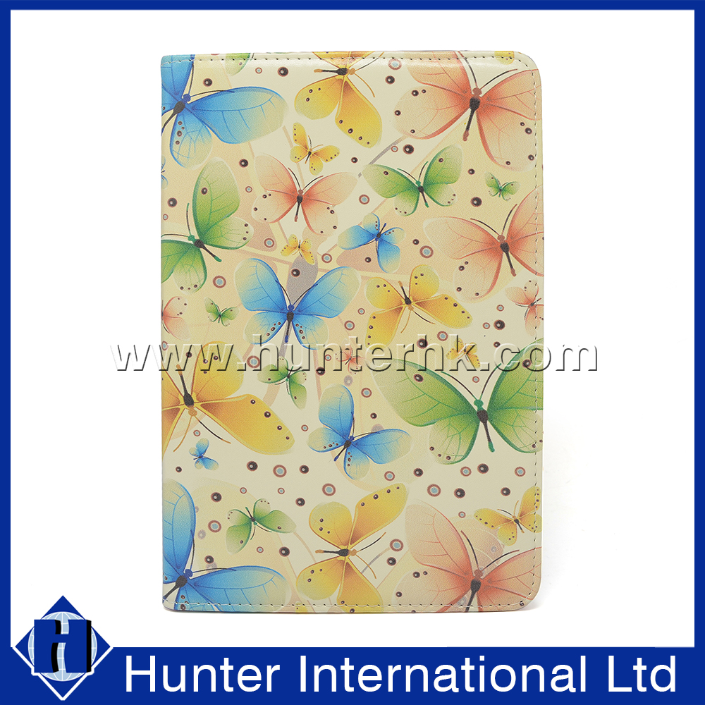 Printed Green Leaf Rotating Case For iPad Mini 4