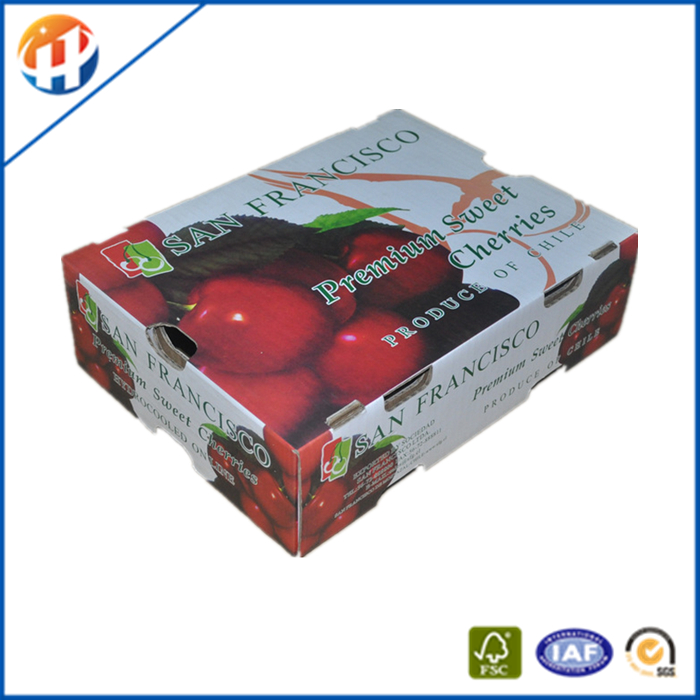 Currogated paper printed lettuce boxes with lid