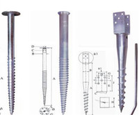 Foundation construction- Ground Screw,screw piles,screw in ground anchor for solar power plant