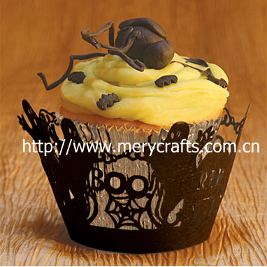 Hotest sale! halloween ghost cupcake wrapper 2013 new Halloween decorations