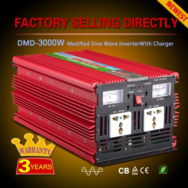 Solar single phase off grid high frequency power mster inverter 3000w 12v 220v with charger