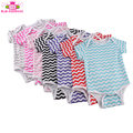 Wholesale Plain Baby Rompers toddler Boy Clothing Short Sleeve Chevron Baby Girl Rompers