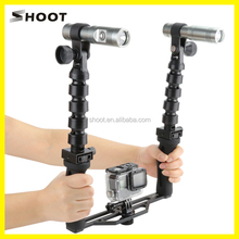SHOOT for GoPro underwater tray with video torch lights, Waterproof diving flashlights for GoPro Hero 5s/5 4/4s/3+Xiaoyi