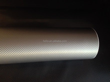 1.52*30m 3D carbon fiber car beauty vinyl wrap dark Silver with air bubble free