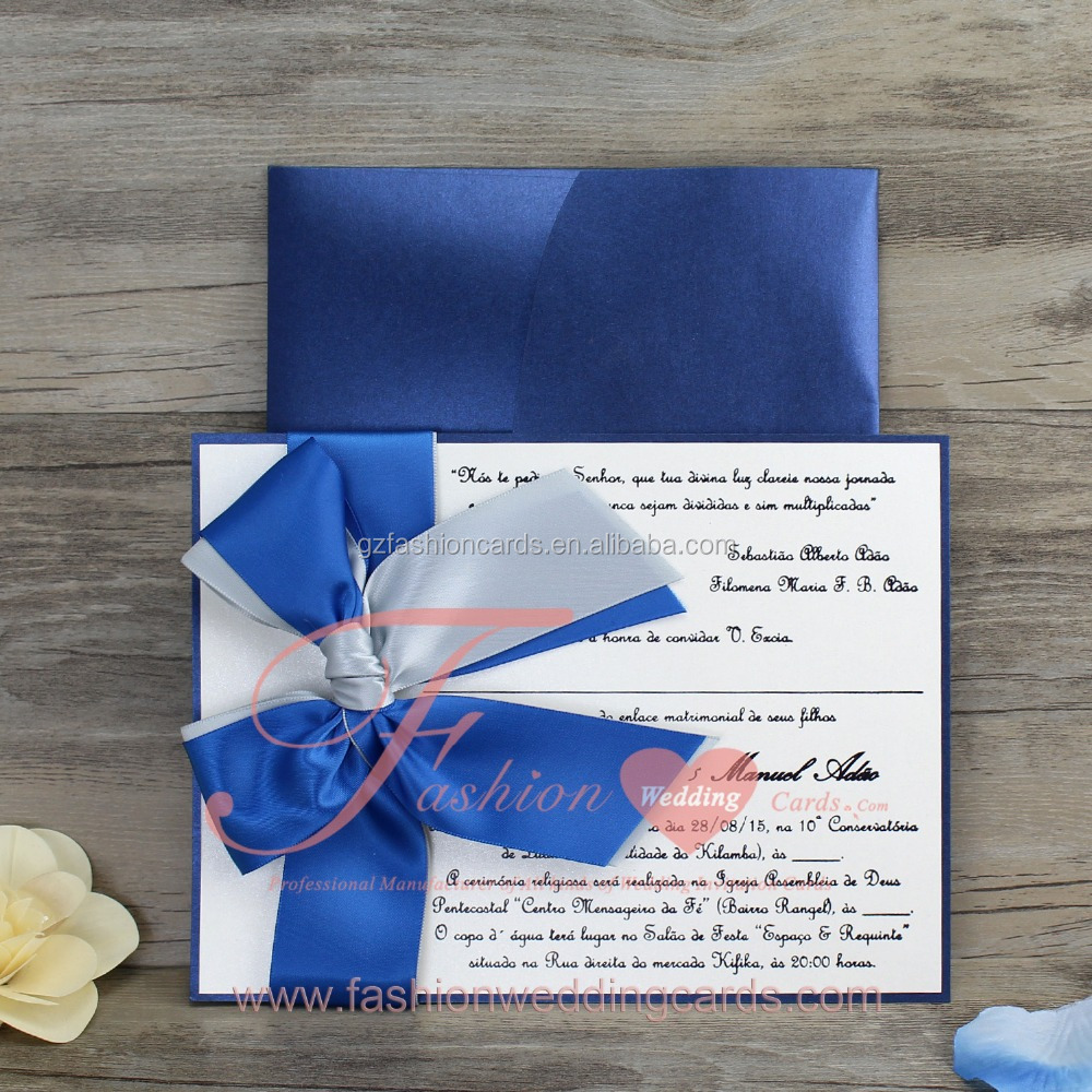 2016 Latest Arabic Blue Love Marriage Wedding Card Designs