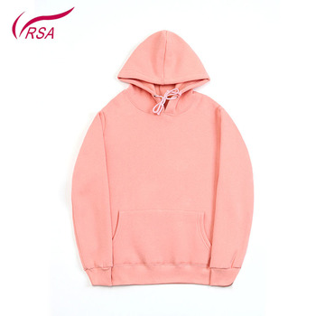 Customized Unisex 100%Cotton Quality Blank Pink Hoodie Fashion Design Casual Men Black Plain Fleece Sweatshirt Pullover Hoodies