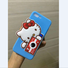 Hello Kitty Camera Silicone Rubber Phone Case For Iphone 8