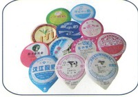 Heat Sealing Pre Cut Yogurt Cup Aluminum Foil Lids