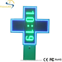 LED cross for pharmacy (Croix de Pharmacie)