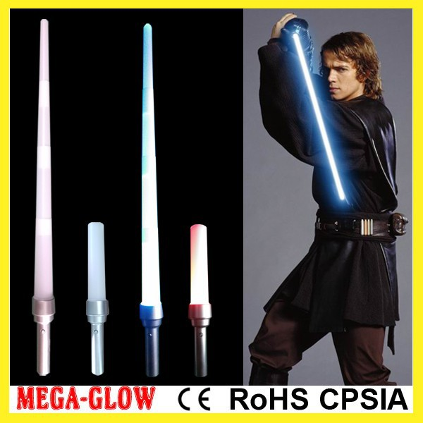 top cheap 85cm LED colorful star war jedi expandable sword