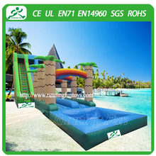 2015 Large amusement park inflatable water slide with pool for sale water park slide for children and adults