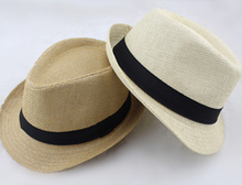 Wide Brim Sun Hats for Women Men Jazz Caps Panama Fedoras Unisex Top Beach Visor Hat Straw Cap Brief Solid