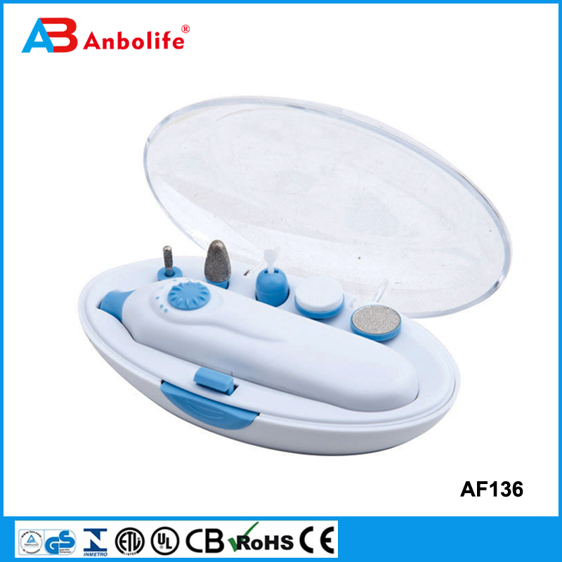 Anbolife manicure tool AS SEEN ON TV Silky soft electronic nail care system 5 in 1 nail filing buffer polisher