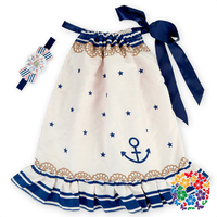 Sweet Little Girl Decorative Pillowcase Dresses Hot Summer Cotton Dresses With Matched Headband