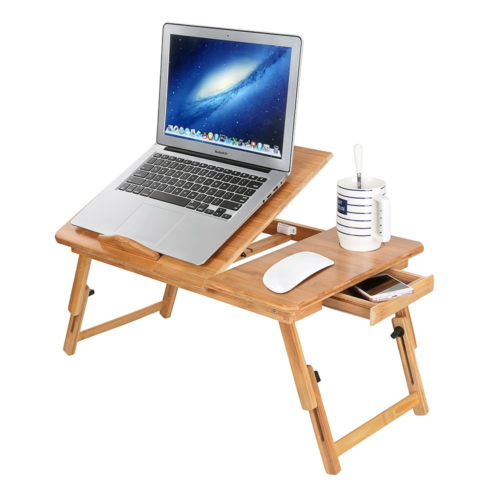 Folding Laptop Table Adjustable Laptop Stand For Monitor Stand Riser