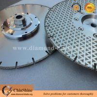 Segmented Pyramid Electroplated Diamond Disc For