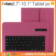 RoHS FCC CE Tablet PC bluetooth keyboard leather case for universial tablet 9.7-10.1 inch Tablet PC/IOS System