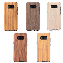 New Hot selling 5 kinds Solid wood pattern tpu case available, Wooden Grian Cover for Galaxy S8, S8 Plus