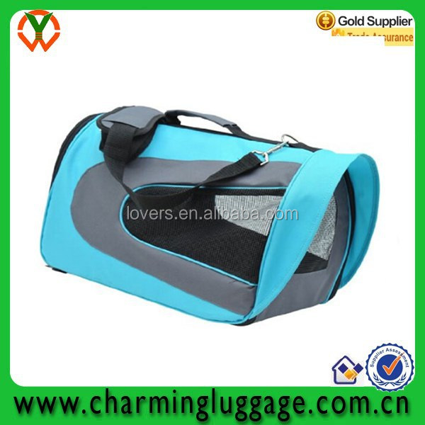 Shenzhen factory wholesale pet carry dog bag in blue