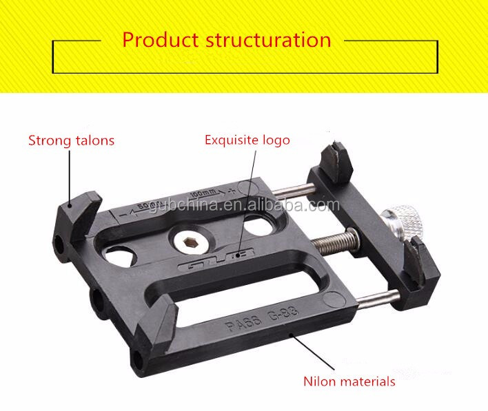 GUB G-83 Anti-Slip Universal Bicycle Bike 3.5-6.2inch Phone Holder Mount Bracket For Smart Mobile Cellphone Handlebar Clip Stand